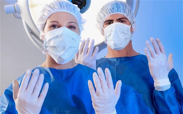 NHS hands